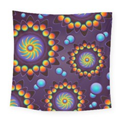 Texture Background Flower Pattern Square Tapestry (Large)