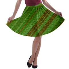 Stripes Course Texture Background A-line Skater Skirt