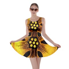 Yellow Flower Stained Glass Colorful Glass Skater Dress