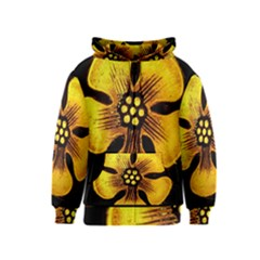 Yellow Flower Stained Glass Colorful Glass Kids  Zipper Hoodie