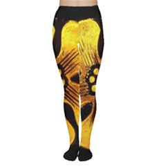 Yellow Flower Stained Glass Colorful Glass Women s Tights