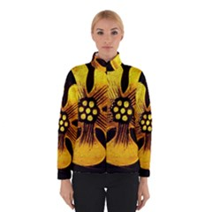 Yellow Flower Stained Glass Colorful Glass Winterwear