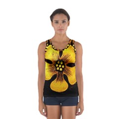 Yellow Flower Stained Glass Colorful Glass Women s Sport Tank Top