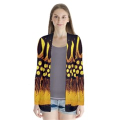 Yellow Flower Stained Glass Colorful Glass Cardigans