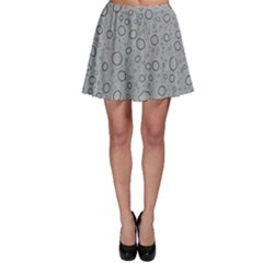 Water Glass Pattern Drops Wet Skater Skirt