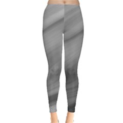 Wave Form Texture Background Leggings