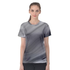 Wave Form Texture Background Women s Sport Mesh Tee