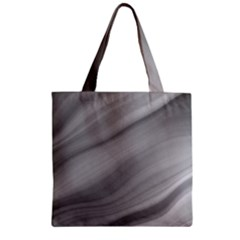 Wave Form Texture Background Zipper Grocery Tote Bag