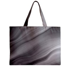 Wave Form Texture Background Zipper Mini Tote Bag