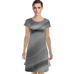 Wave Form Texture Background Cap Sleeve Nightdress