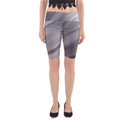 Wave Form Texture Background Yoga Cropped Leggings