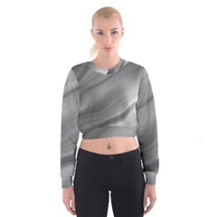 Wave Form Texture Background Women s Cropped Sweatshirt