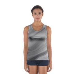Wave Form Texture Background Women s Sport Tank Top