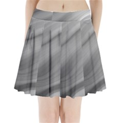 Wave Form Texture Background Pleated Mini Skirt