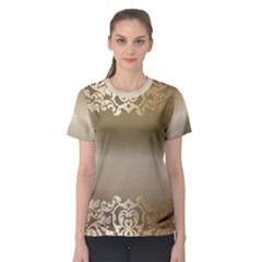 Floral Decoration Women s Sport Mesh Tee