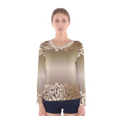 Floral Decoration Women s Long Sleeve Tee
