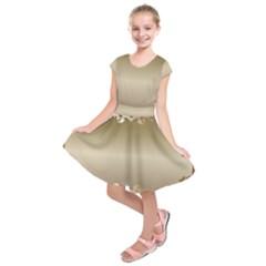 Floral Decoration Kids  Short Sleeve Dress