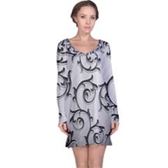 Floral Long Sleeve Nightdress