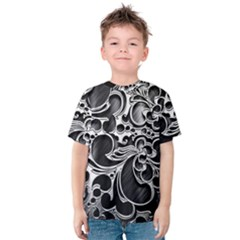 Floral High Contrast Pattern Kids  Cotton Tee