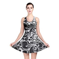 Floral High Contrast Pattern Reversible Skater Dress