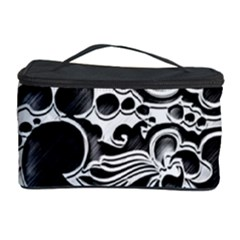 Floral High Contrast Pattern Cosmetic Storage Case