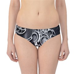 Floral High Contrast Pattern Hipster Bikini Bottoms