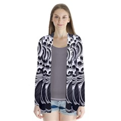 Floral High Contrast Pattern Cardigans