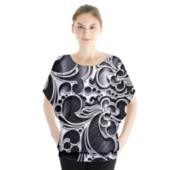 Floral High Contrast Pattern Blouse