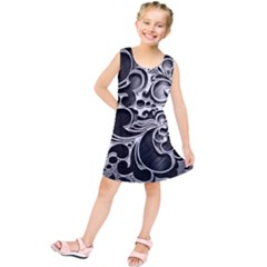 Floral High Contrast Pattern Kids  Tunic Dress