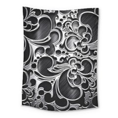 Floral High Contrast Pattern Medium Tapestry