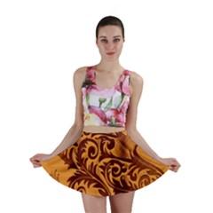 Floral Vintage  Mini Skirt