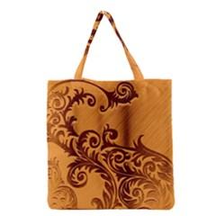 Floral Vintage  Grocery Tote Bag
