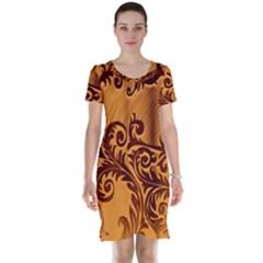Floral Vintage  Short Sleeve Nightdress