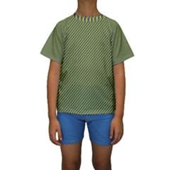 Mardi Gras Checker Boards Kids  Short Sleeve Swimwear