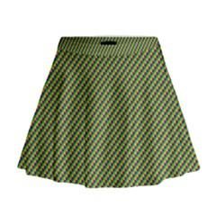 Mardi Gras Checker Boards Mini Flare Skirt