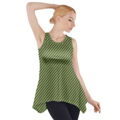 Mardi Gras Checker Boards Side Drop Tank Tunic