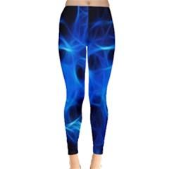 Blue Flame Light Black Leggings