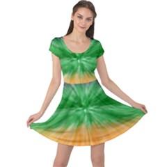 Mardi Gras Tie Die Cap Sleeve Dresses