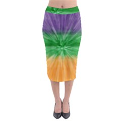 Mardi Gras Tie Die Midi Pencil Skirt