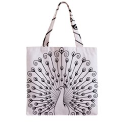 Bird Peacock Fan Animals Grocery Tote Bag