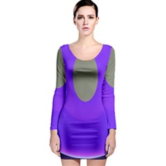 Ceiling Color Magenta Blue Lights Gray Green Purple Oculus Main Moon Light Night Wave Long Sleeve Bodycon Dress