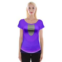 Ceiling Color Magenta Blue Lights Gray Green Purple Oculus Main Moon Light Night Wave Women s Cap Sleeve Top