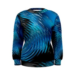Waves Wave Water Blue Hole Black Women s Sweatshirt
