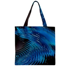 Waves Wave Water Blue Hole Black Zipper Grocery Tote Bag