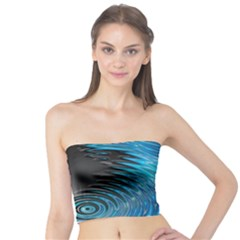Waves Wave Water Blue Hole Black Tube Top