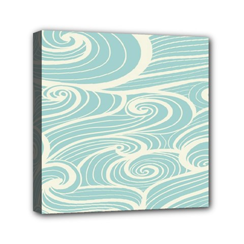 Blue Waves Mini Canvas 6  x 6