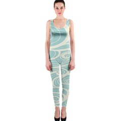 Blue Waves Onepiece Catsuit