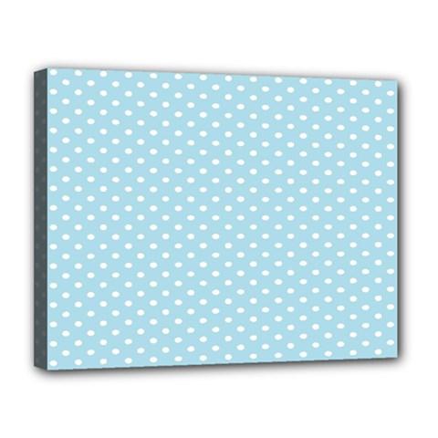 Circle Blue White Canvas 14  X 11