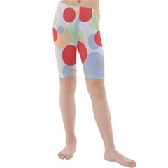 Contrast Analogous Colour Circle Red Green Orange Kids  Mid Length Swim Shorts