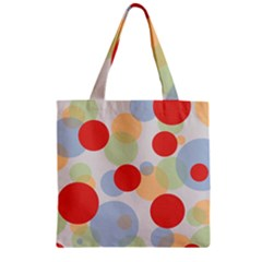 Contrast Analogous Colour Circle Red Green Orange Zipper Grocery Tote Bag